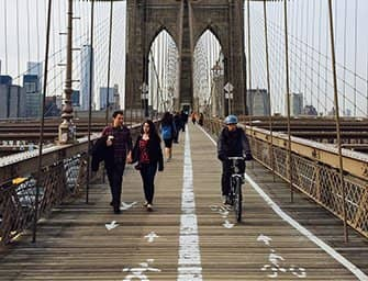 Bike Rental in New York - Biking on the Brooklyn Bridge