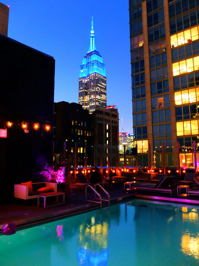 Swimming in New York - Royalton Hotel