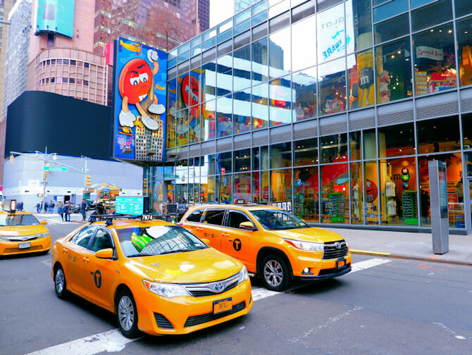 Theater District in New York - M&M Store