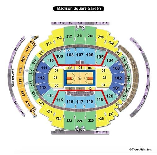 New York Liberty Basketball Tickets - Seating Chart