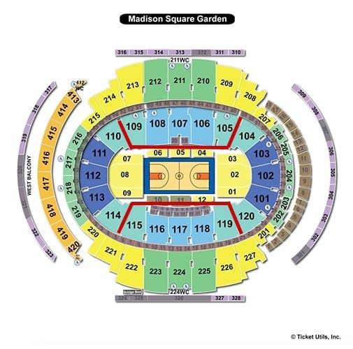New York Liberty Basketball Tickets - Seating Chart