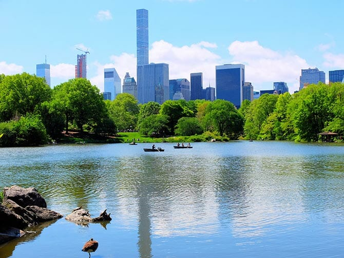 Rowing Boat Rental in Central Park - The Lake