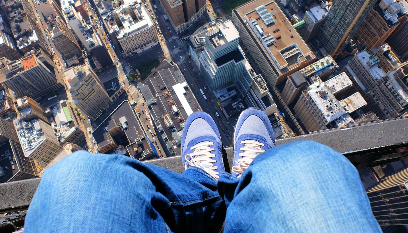 No Door Helicopter Tour in New York - Shoe Selfie