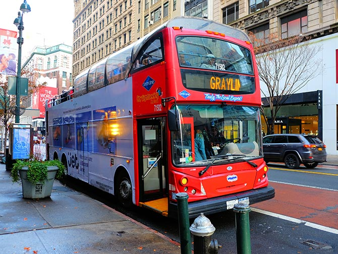 New York Sightseeing Flex Pass - Hop-on Hop-off bus