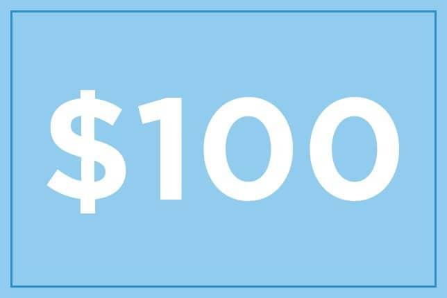 $100 ギフト券