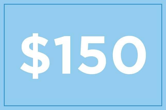 $150 ギフト券