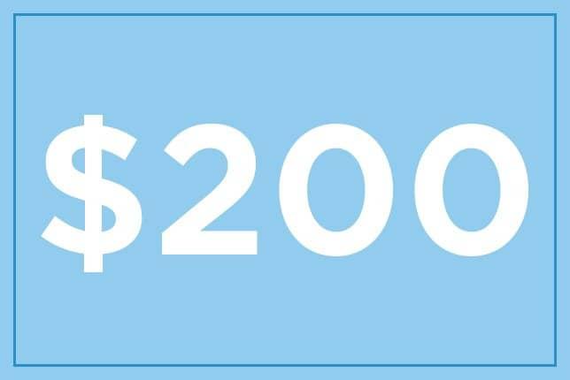 $200 ギフト券