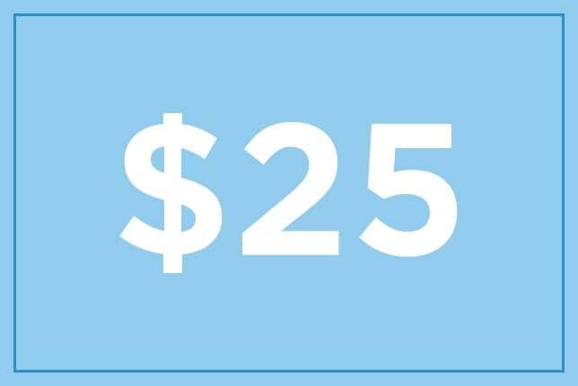 $25 ギフト券