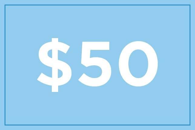 $50 ギフト券